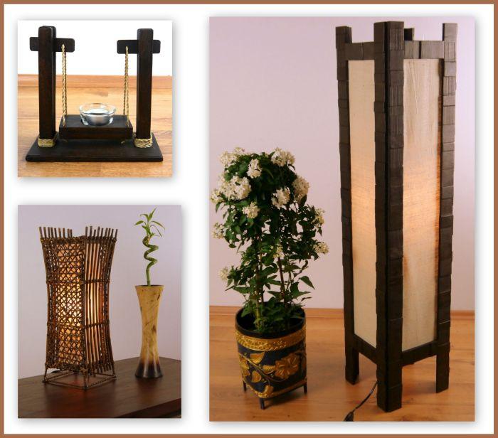 steh und tischlampen sowie teelichthalter und win thai. Black Bedroom Furniture Sets. Home Design Ideas