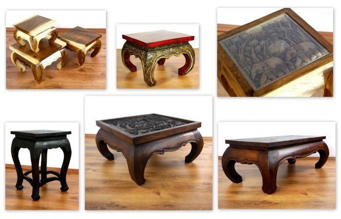 thail ndische m bel opiumtische accessoires thaikissen. Black Bedroom Furniture Sets. Home Design Ideas