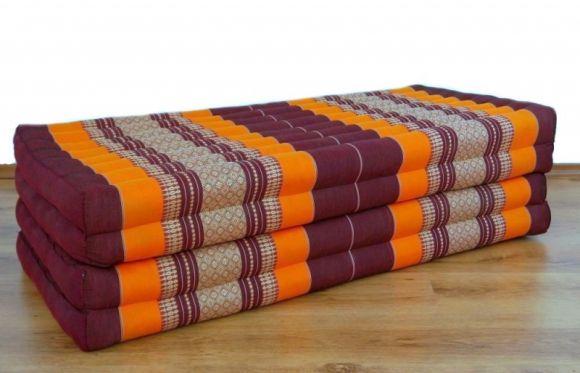 Thailändische Gästematratze, Klappmatratze *orange* XL