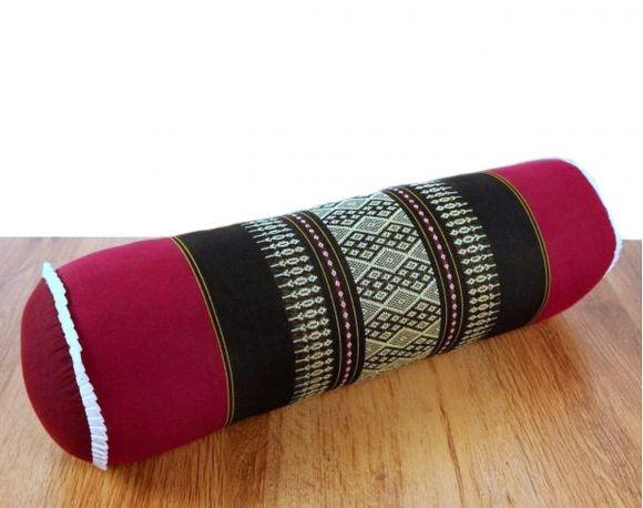 Asiatische Nackenrolle, Nackenkissen  *rot / schwarz*