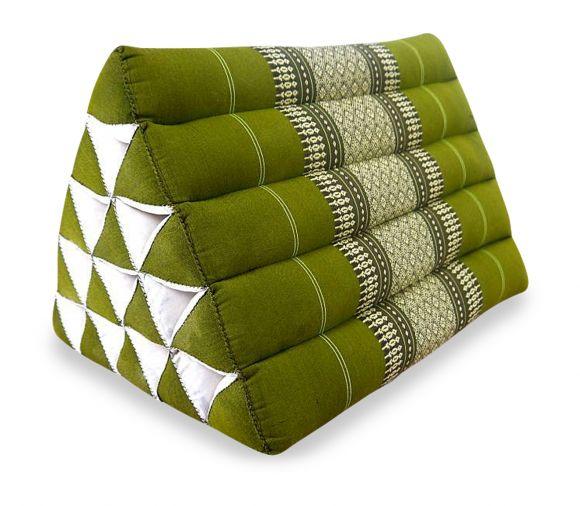 Dreieckskissen als Rückenstütze  *grün*  (extrahoch)