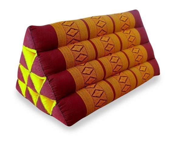 Thaikissen, Dreieckskissen ohne Auflage  *rot / gelb*