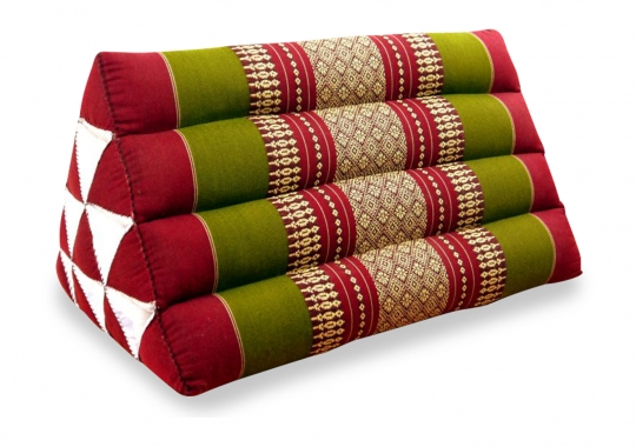 Thaikissen, Dreieckskissen ohne Auflage  *rot / grün*