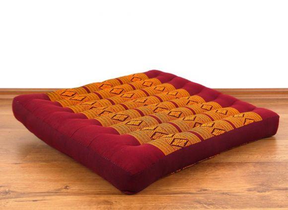 Asiatisches Sitzkissen, Stuhlkissen  *rot / gelb*  (groß)