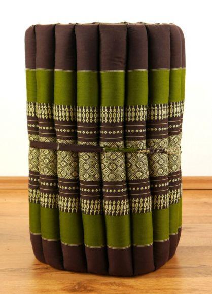 Thaimatte, Rollmatte, Liegematte  *braun / grün*  Gr.S