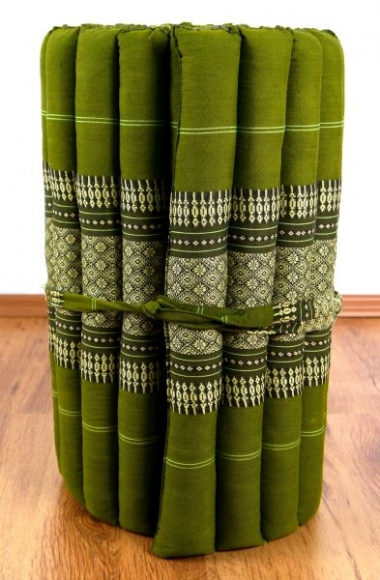 Thaimatte, Rollmatte, Liegematte  *grün*  Gr.S
