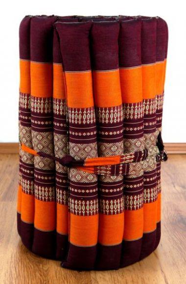Thaimatte, Rollmatte, Liegematte  *orange*  Gr.S