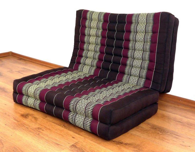 asiatische klappmatratze aus reinem kapok thai ambiente. Black Bedroom Furniture Sets. Home Design Ideas