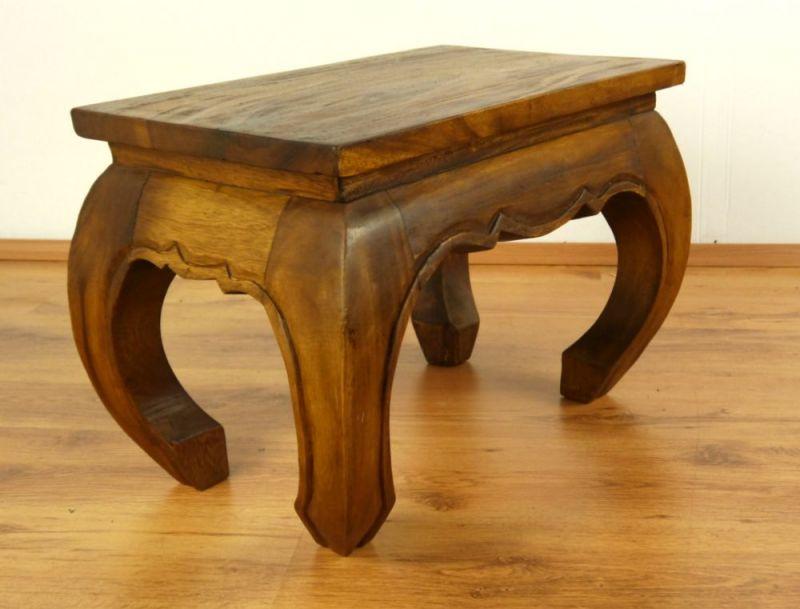 Kleiner opiumtisch aus massivholz for Kleiner sofatisch