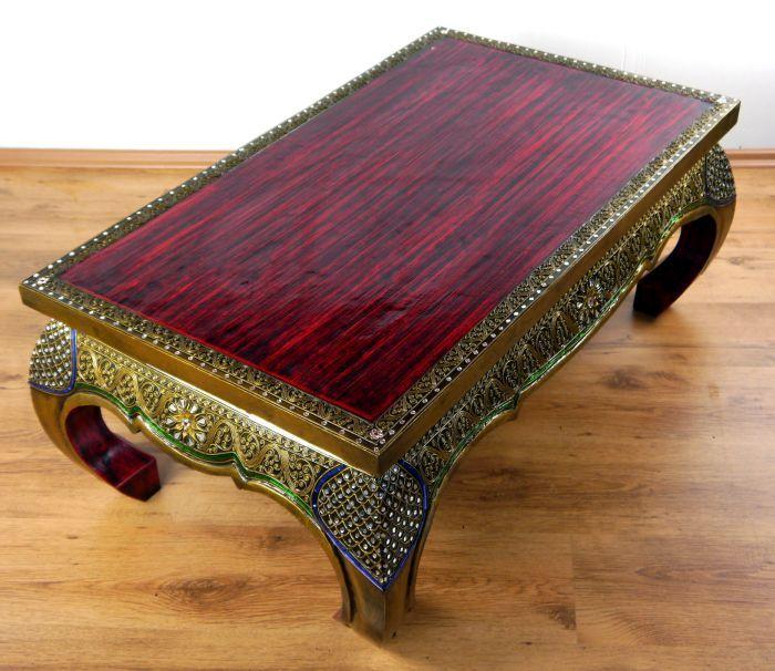 opiumtisch mit glasmosaik thai ambiente. Black Bedroom Furniture Sets. Home Design Ideas