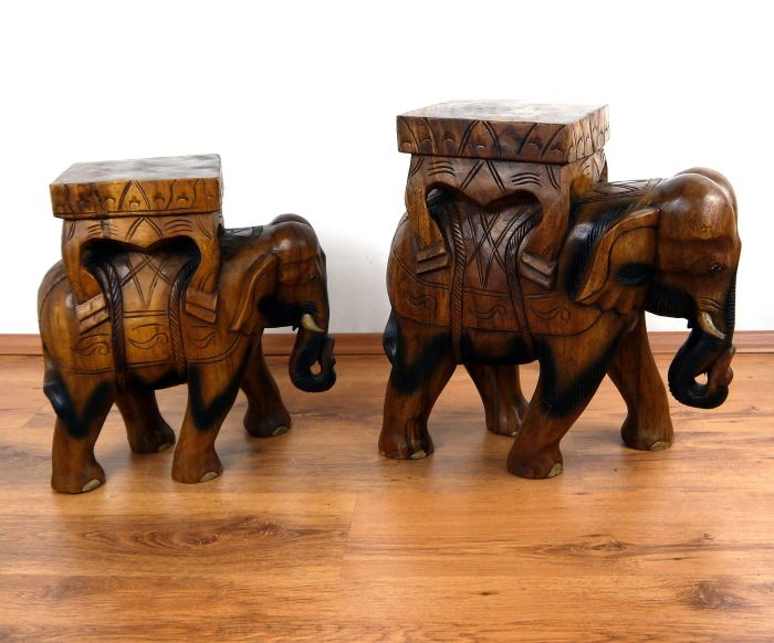 gigantischer deko elefant aus holz jetzt online kaufen thai ambiente. Black Bedroom Furniture Sets. Home Design Ideas