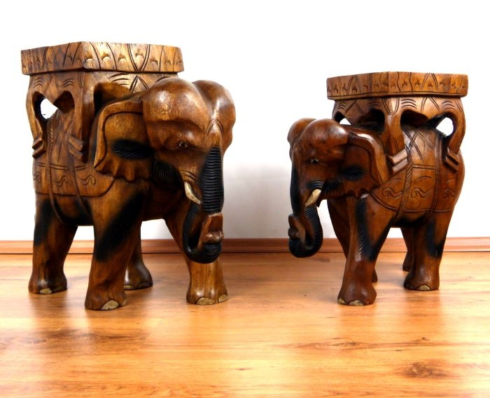 gigantischer deko elefant aus holz jetzt online kaufen. Black Bedroom Furniture Sets. Home Design Ideas