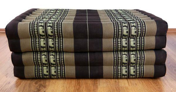 thail ndische faltmatratze braun elefanten thai ambiente. Black Bedroom Furniture Sets. Home Design Ideas