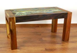 Java, Tisch aus buntem recycelten Teakholz/Bootsholz, Nr.27