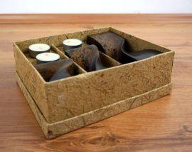 Teelichthalter *Säulen* 3er Set in einer Geschenkebox