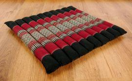 Steppkissen, Yogakissen  *schwarz / rot*  (groß)