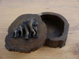 *Elefantendekobox*  aus Teakholz