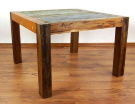 Java, Tisch aus buntem recycelten Teakholz/Bootsholz, Nr.26