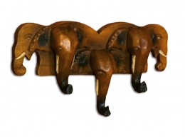 Garderobenhaken mit *5 Elefanten*