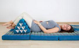 Thaikissen, Dreieckskissen ohne Auflage  *rubinrot*