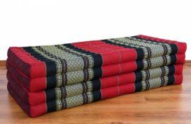 Thailändische Gästematratze, Klappmatratze *rot - schwarz* XL