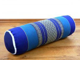 Asiatische Nackenrolle, Nackenkissen  *blau*