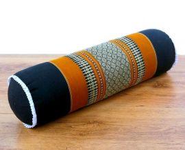 Asiatische Nackenrolle, Nackenkissen  *schwarz / orange*