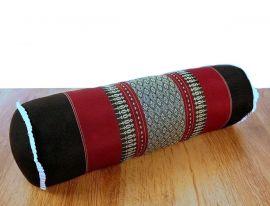 Asiatische Nackenrolle, Nackenkissen  *schwarz / rot*