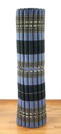 Kapok Rollmatte, Liegematte  *blau / Elefanten*  Gr.XL