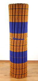 Kapok Rollmatte, Liegematte  *blau / gelb*  Gr.XL