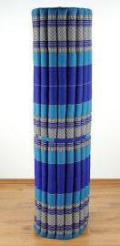 Kapok Rollmatte, Liegematte  *blau*  Gr.XL