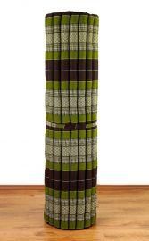Kapok Rollmatte, Liegematte  *braun / grün*  Gr.XL
