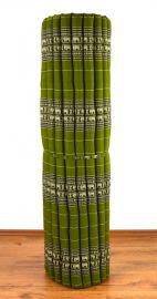 Kapok Rollmatte, Liegematte  *grün / Elefanten*  Gr.XL