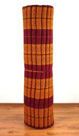 Kapok Rollmatte, Liegematte  *rot / gelb*  Gr.XL