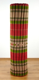 Kapok Rollmatte, Liegematte  *rot / grün*  Gr.XL