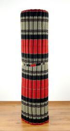 Kapok Rollmatte, Liegematte  *rot / schwarz*  Gr.XL