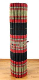 Kapok Rollmatte, Liegematte  *schwarz / rot*  Gr.XL