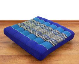 Kapok Sitzkissen, Bodenkissen  *blau*  (klein)