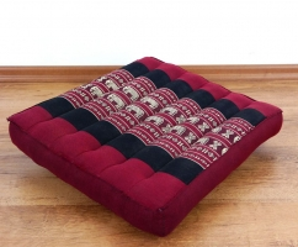 Asiatische Sitzkissen  *rot / Elefanten*  (klein)