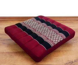Asiatisches Sitzkissen  *rot / schwarz*  (klein)