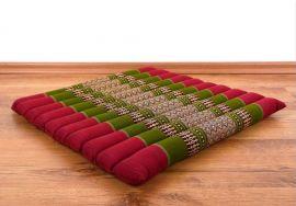 Steppkissen, Thaikissen  *rot / grün*  (groß)