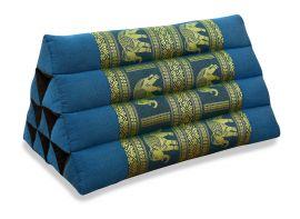 Thaikissen ohne Auflage, Seide   *hellblau / Elefanten*