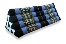 Asiatisches Dreieckskissen ohne Auflage  *blau / Elefanten*  (extrabreit)