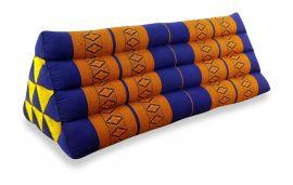 Asiatisches Dreieckskissen ohne Auflage  *blau / gelb*  (extrabreit)
