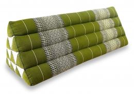 Thaikissen als Rückenstütze  *grün*  (extrabreit)