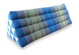 Asiatisches Dreieckskissen ohne Auflage  *hellblau*  (extrabreit)