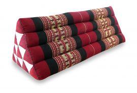 Thaikissen, Dreieckskissen ohne Auflage  *rot / Elefanten*  (extrabreit)