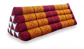 Thaikissen, Dreieckskissen ohne Auflage  *rot / gelb*  (extrabreit)