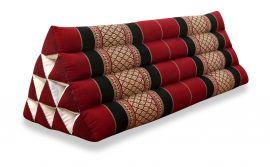 Thaikissen, Dreieckskissen ohne Auflage  *rot / schwarz*  (extrabreit)