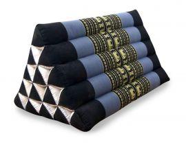 Asiatisches Dreieckskissen ohne Auflage  *blau / Elefanten*  (extrahoch)